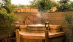 1980 Excelsior - Street of Dreams - outside hot tub - custom home by Rick Bernard Custom Homes.