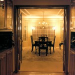 1986 Empress - entrance to dining room - Street of Dreams custom home by Rick Bernard of Bernard Custom Homes.