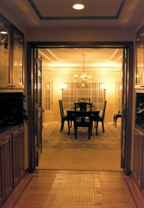 1986 Empress - entrance to dining room - Street of Dreams custom home by Rick Bernard of Bernard Custom Homes.