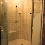 1987 Seventh Sunrise - bathroom shower - - Street of Dreams custom home by Rick Bernard of Bernard Custom Homes.