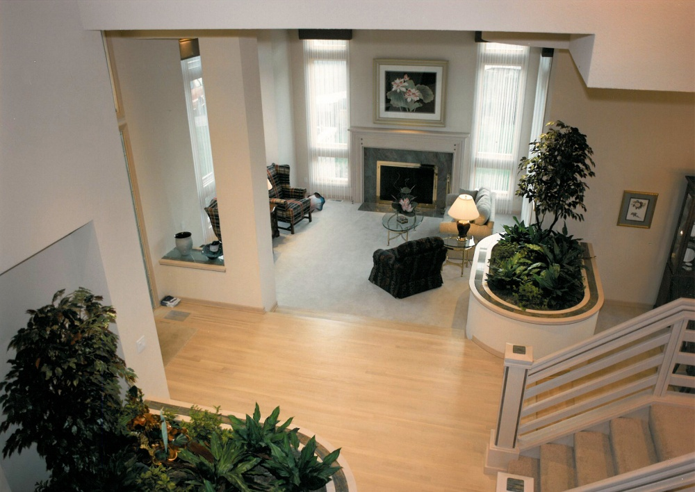 1992 Oregon Mist - entry and stairase - Street of Dreams custom home by Rick Bernard Custom Homes.
