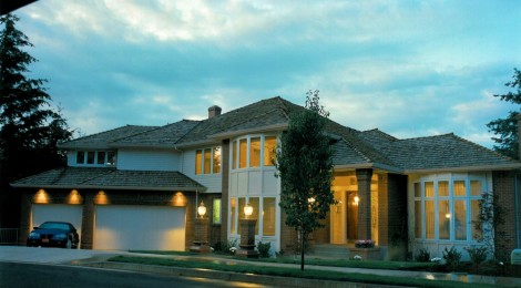 1993 Oregon Reign - exterior - Street of Dreams custom home by Rick Bernard Custom Homes.