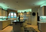 1993 Oregon Reign - kitchen island - Street of Dreams custom home by Rick Bernard Custom Homes.