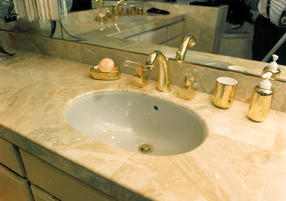 1995 Oregon Dream - bathroom sink - Street of Dreams custom home by Rick Bernard Custom Homes.