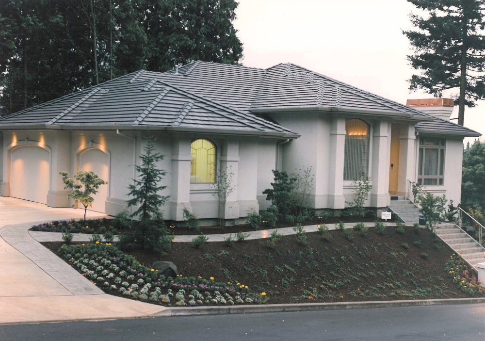 1995 Oregon Dream - exterior - Street of Dreams custom home by Rick Bernard Custom Homes.