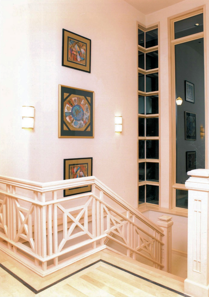 1996 Oregon Sunset - Staircase - second level - Street of Dreams custom home by Rick Bernard Custom Homes.
