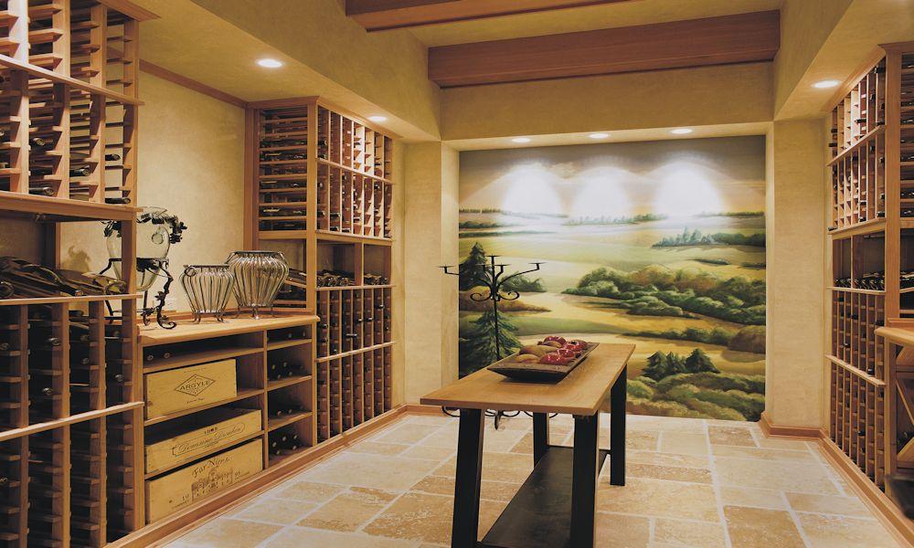 Oregon Craftsman 2002 Street of Dreams Custom Home by Rick Bernard Custom Homes - 1409 Wine Cellar (4c).