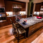 Kitchen and island of 2013 Street of Dreams Custom Home 20-20 by Rick Bernard of Bernard Custom Homes.