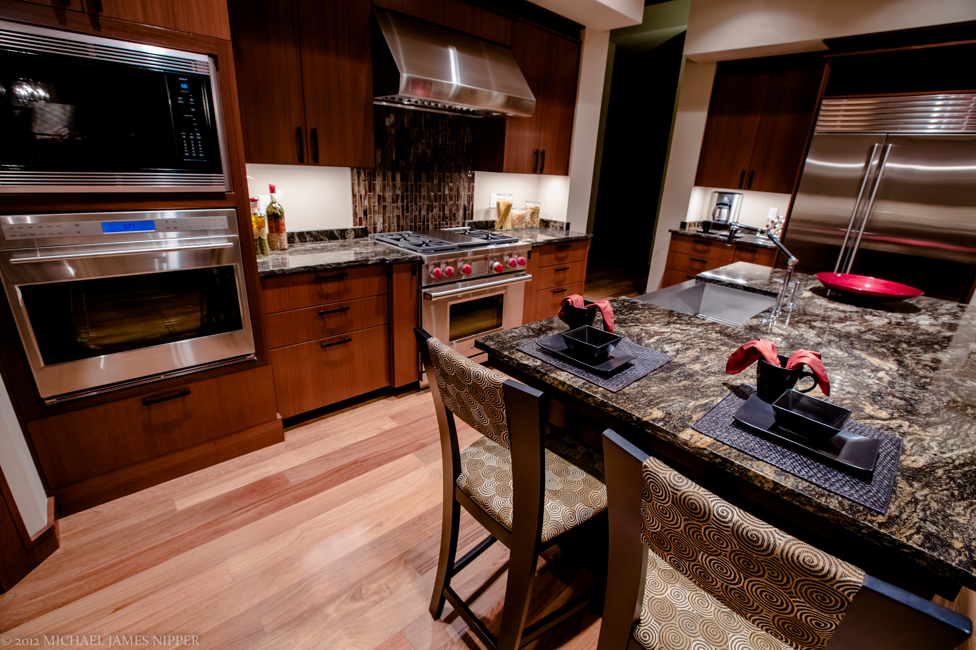 Kitchen and dining area of 2013 Street of Dreams Custom Home 20-20 by Rick Bernard of Bernard Custom Homes.