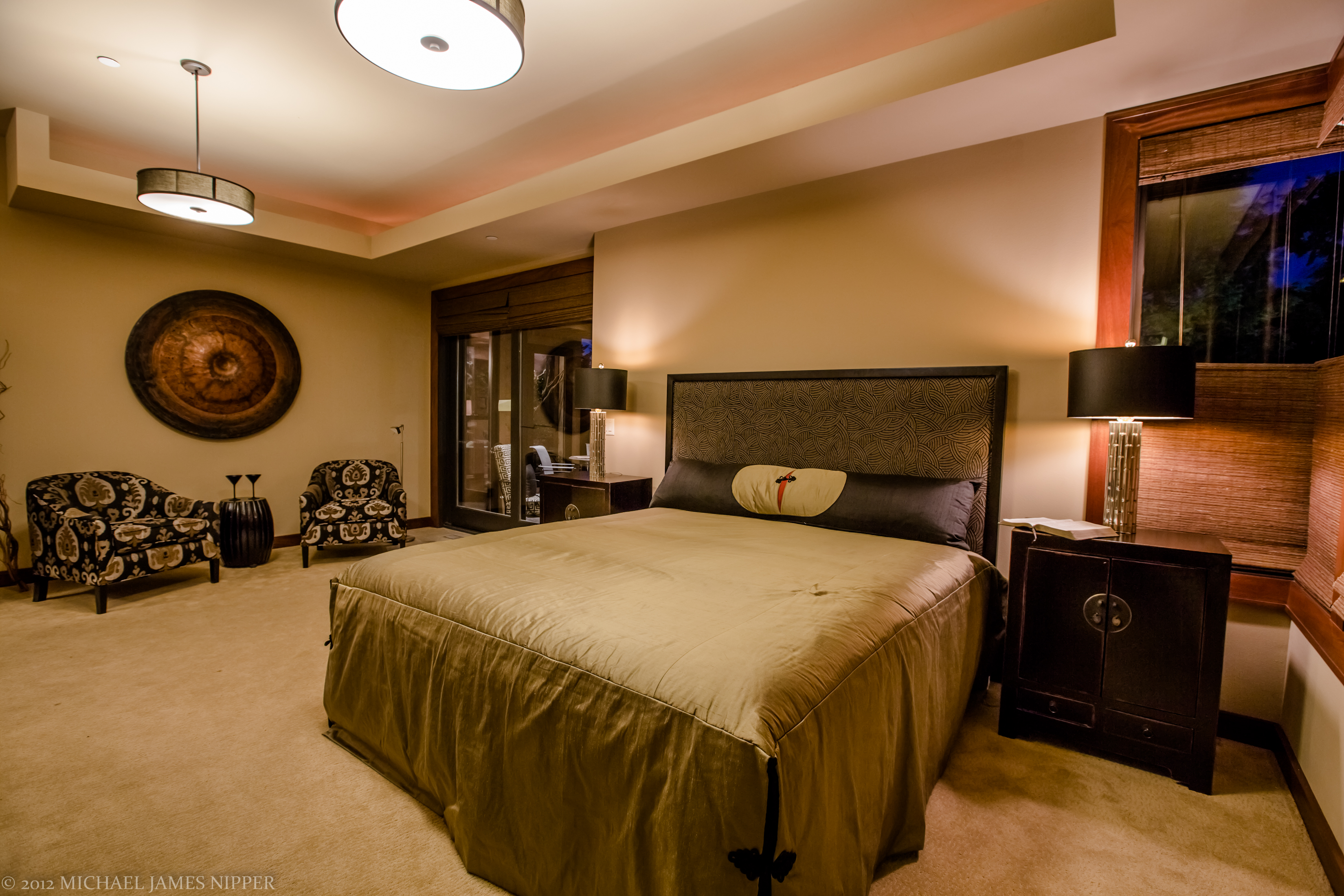 Master bedroom of 2013 Street of Dreams Custom Home 20-20 by Rick Bernard of Bernard Custom Homes.