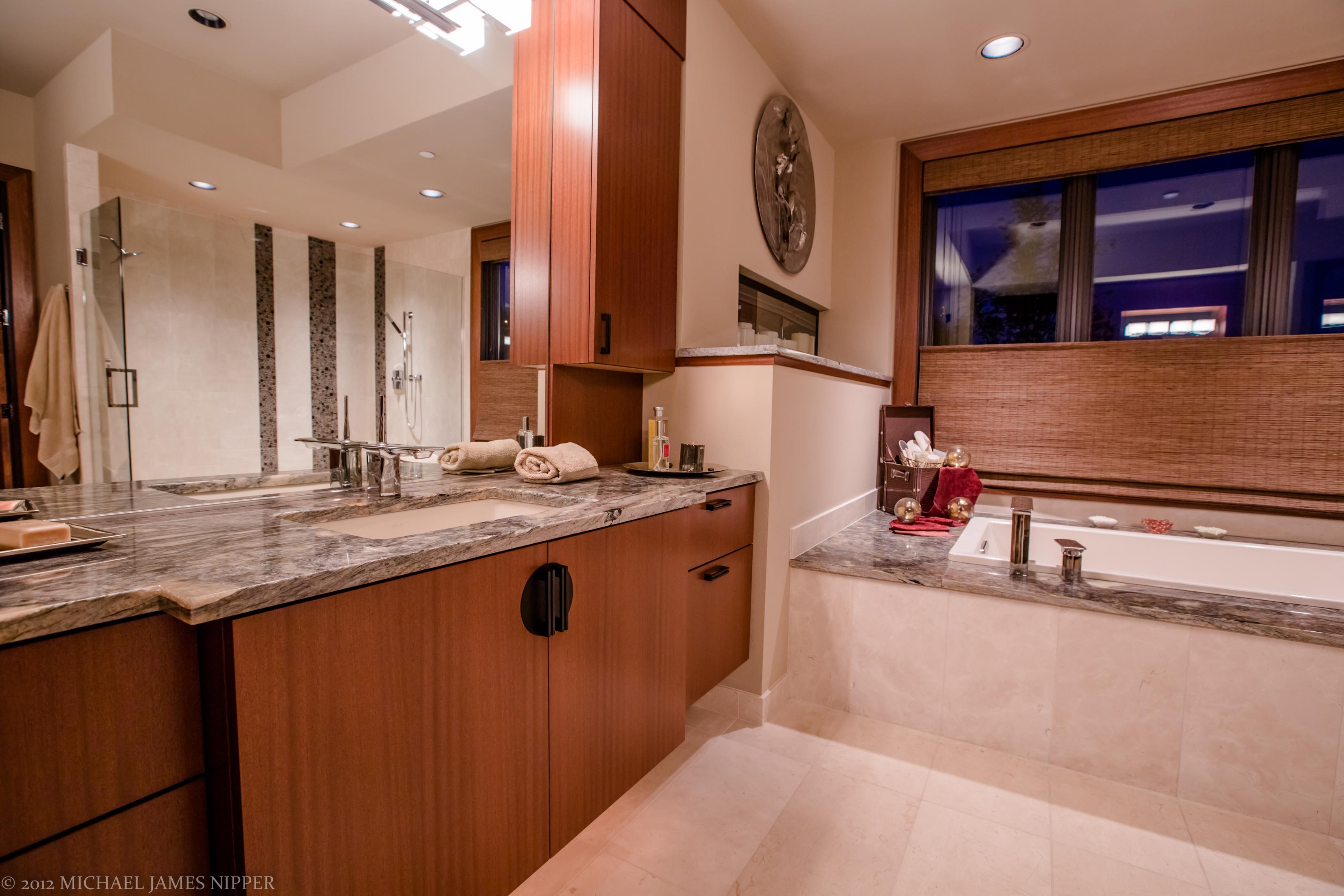 Master bathroom sink of 2013 Street of Dreams Custom Home 20-20 by Rick Bernard of Bernard Custom Homes.