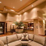 Living room towards kitchen of 2013 Street of Dreams Custom Home 20-20 by Rick Bernard of Bernard Custom Homes.