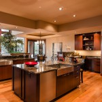 Kitchen island area on main floor of 2013 Street of Dreams Custom Home 20-20 by Rick Bernard of Bernard Custom Homes.