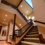Stairwell from first floor to second of 2013 Street of Dreams Custom Home 20-20 by Rick Bernard of Bernard Custom Homes.