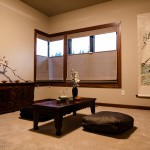 Open social area on second floor with Japanese style table setting of 2013 Street of Dreams Custom Home 20-20 by Rick Bernard of Bernard Custom Homes.