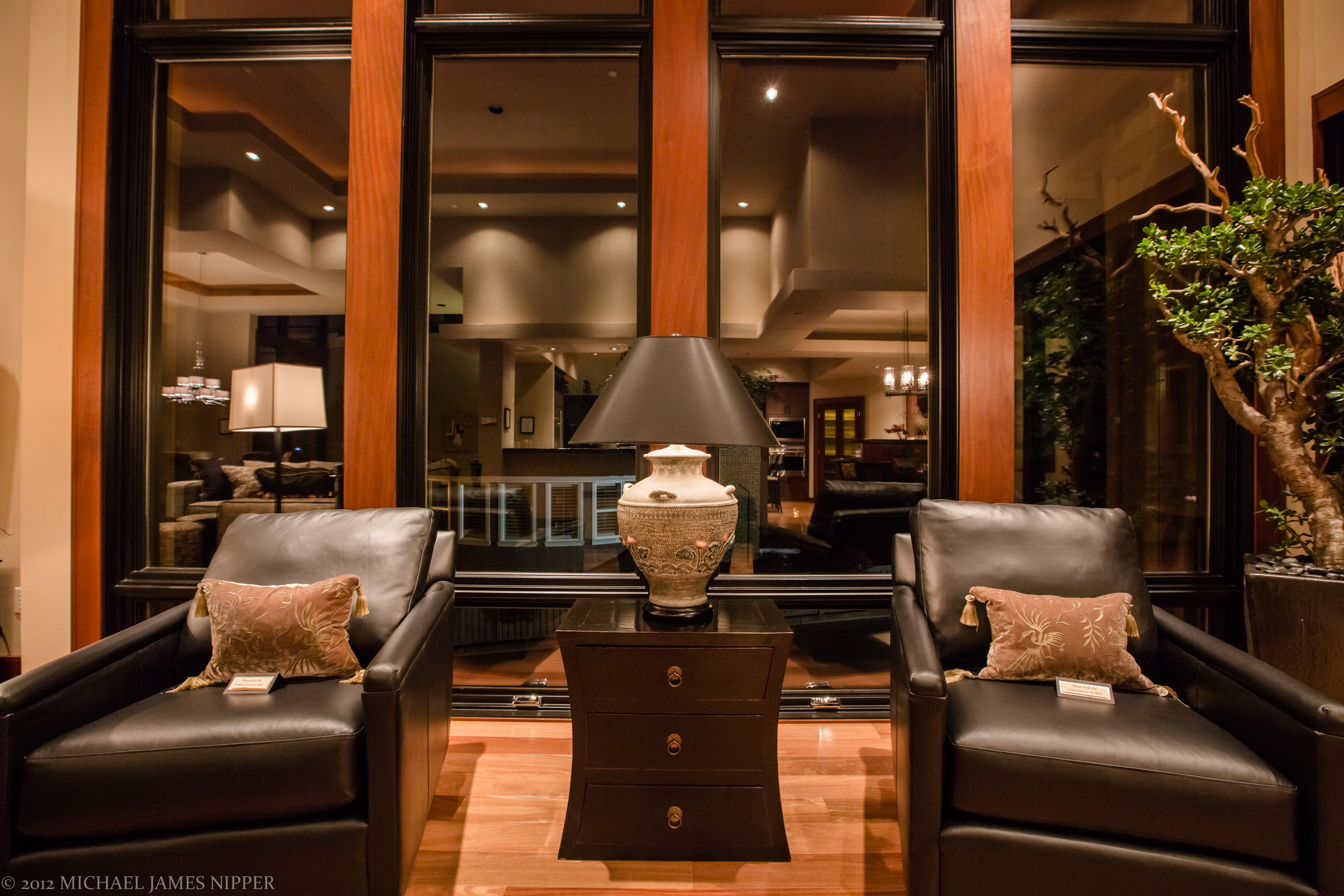 Living room front windows and living area of 2013 Street of Dreams Custom Home 20-20 by Rick Bernard of Bernard Custom Homes.