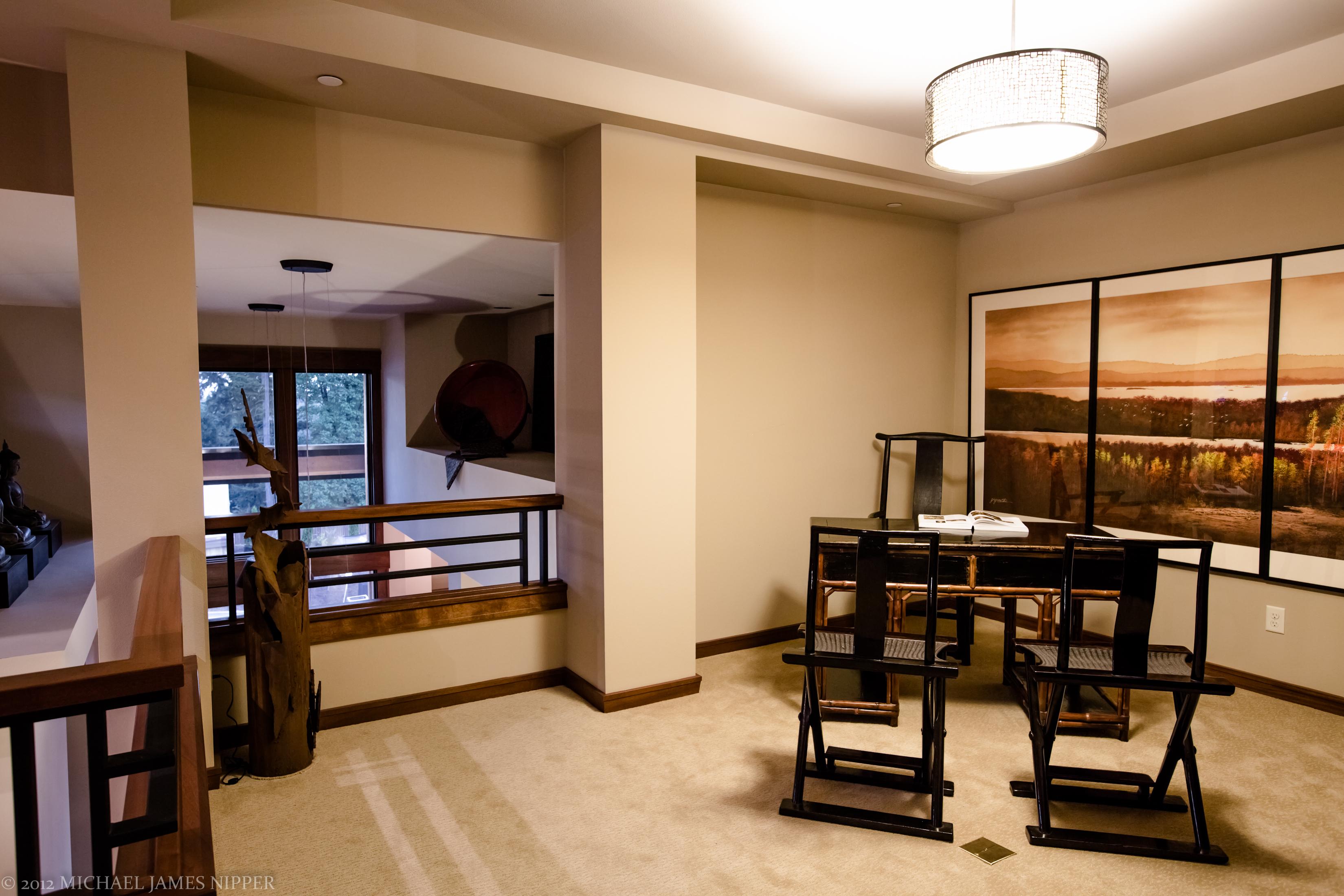 Open social area of second floor of 2013 Street of Dreams Custom Home 20-20 by Rick Bernard of Bernard Custom Homes.