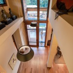 Looking down through entry windows from second floor of 2013 Street of Dreams Custom Home 20-20 by Rick Bernard of Bernard Custom Homes.