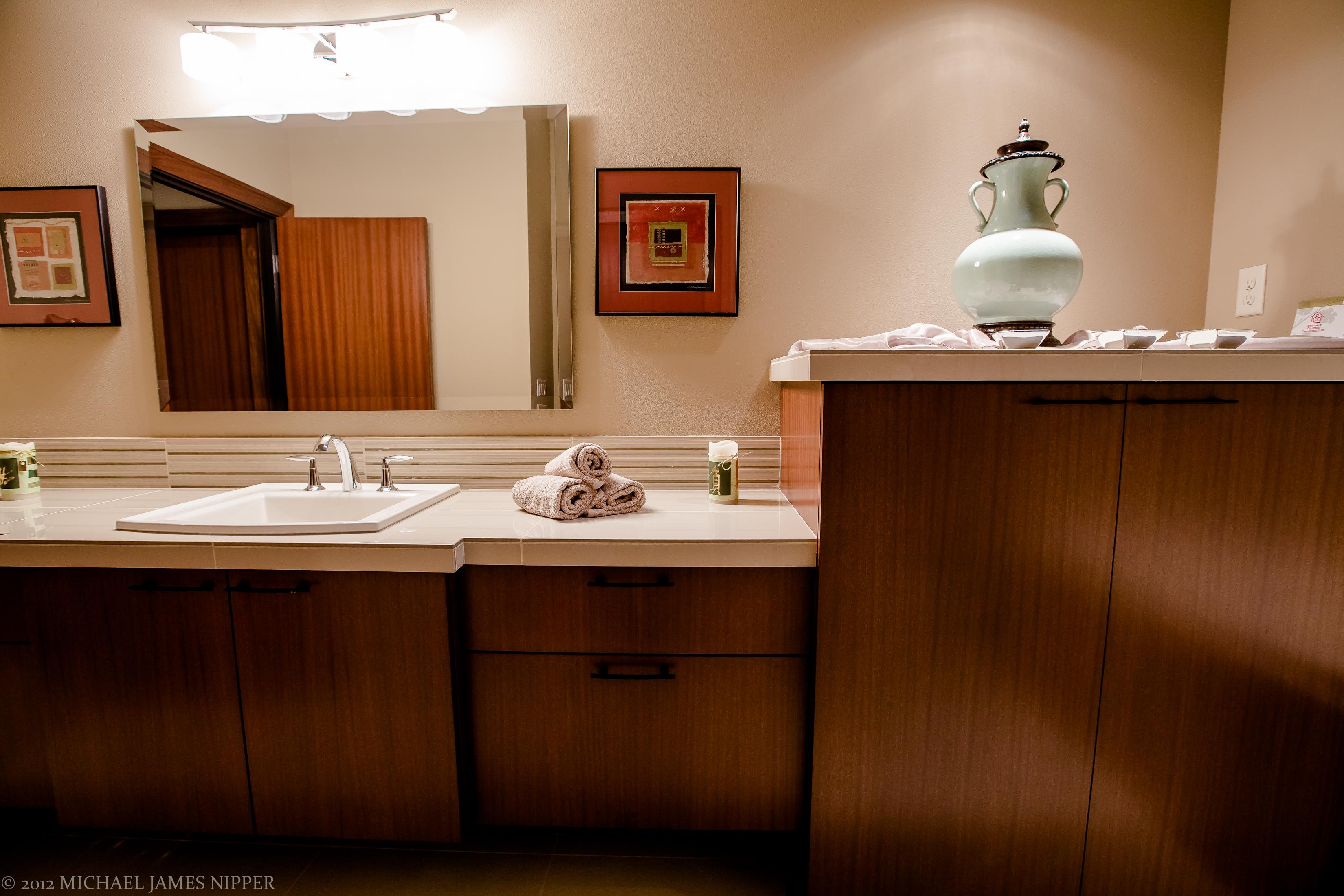 Guest bedroom bath sinks of 2013 Street of Dreams Custom Home 20-20 by Rick Bernard of Bernard Custom Homes.