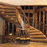 Coventry 1983 main spiral staircase - Bernard Custom Homes - Street of Dreams.