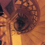 Coventry 1983 - spiral staircase - Bernard Custom Homes - Street of Dreams.