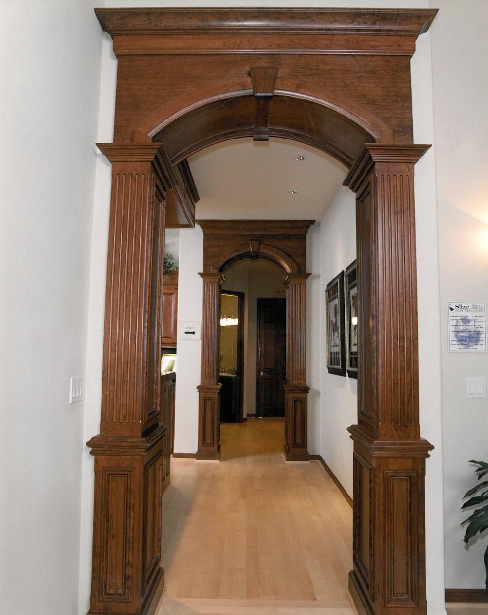 Oregon Angel 1998 - Detail on Hallway Column and Wainscoating - Bernard Custom Homes - Street of Dreams.