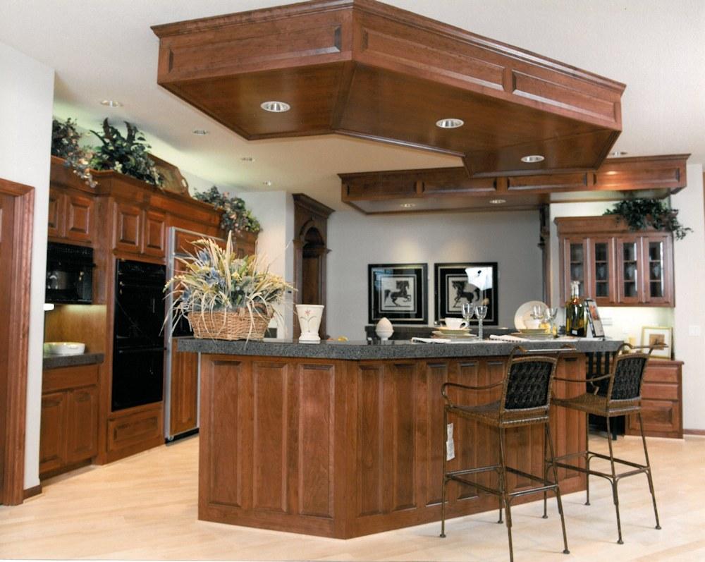 Oregon Angel 1998 - Kitchen Island Cook Center - Bernard Custom Homes - Street of Dreams.
