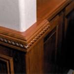 Oregon Angel 1998 Rope Detail on Wainscoating - Bernard Custom Homes - Street of Dreams.
