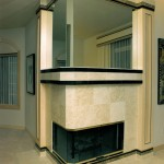 Oregon Dream 1995 - Living Room Fireplace - Bernard Custom Homes - Street of Dreams