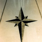 Oregon Dream 1995 - Marble Medallion in Entry Hall Floor - Bernard Custom Homes - Street of Dreams.