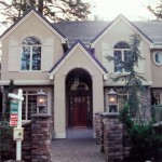 Oregon Fir 2001 front house - Street of Dreams custom home by Rick Bernard Custom Homes.