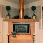 Oregon Jewel 1994 - copper chimney flue in family room - Bernard Custom Homes - Street of Dreams.