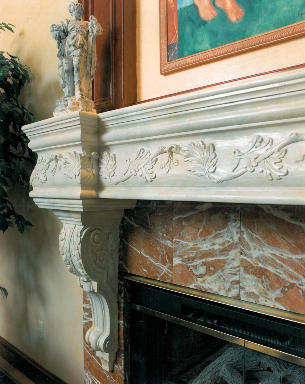 Oregon Jewel 1994 - fireplace detail - Bernard Custom Homes - street of Dreams.
