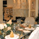 Oregon Spirit 1997 - Dining Area and Stone Fireplace - Bernard Custom Homes - Street of Dreams.