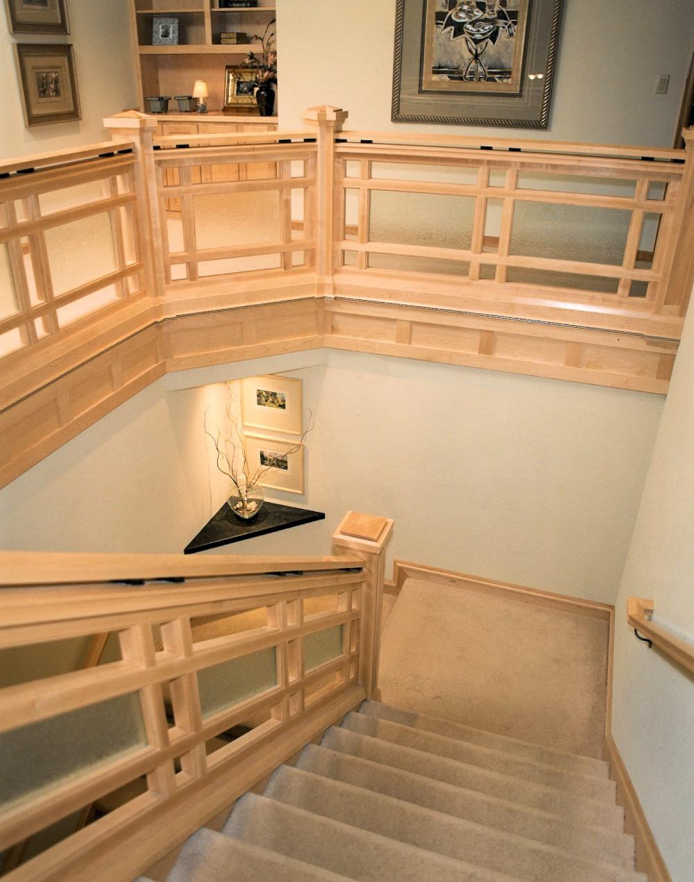 Oregon Spirit 1997 - Staircase - Bernard Custom Homes - Street of Dreams.