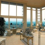 Oregon Sunset 1996 - great room with view - Bernard Custom Homes - street of dreams.