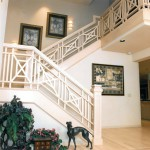 Oregon Sunset 1996 - loft stairs - Bernard Custom Homes - street of dreams.