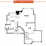 Oregon Sunset 1996 Street of Dreams home by Rick Bernard of Bernard Custom Homes - 2nd Floor Plan.
