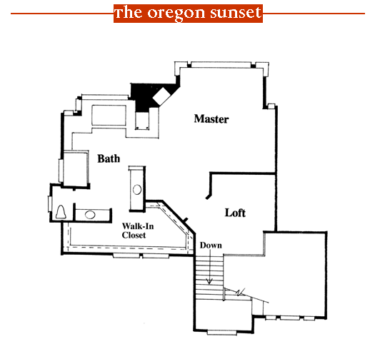 Oregon Sunset 1996 Street of Dreams home by Rick Bernard of Bernard Custom Homes - 2nd Floor Plan.