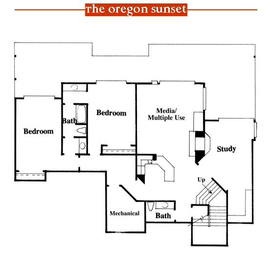 Oregon Sunset 1996 Street of Dreams home by Rick Bernard of Bernard Custom Homes - 3rd Floor Plan.