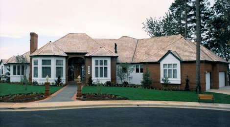 Panoramic Manor Ix - 1989 - Front View - Bernard Custom Homes - Street of Dreams.