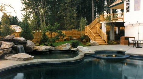 Panoramic Manor Ix 1989 - Swimming Pool Spa - Bernard Custom Homes - Street of Dreams.