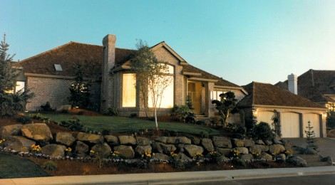 Seventh Sunrise 1987 - Front View - Bernard Custom Homes - Street of Dreams.