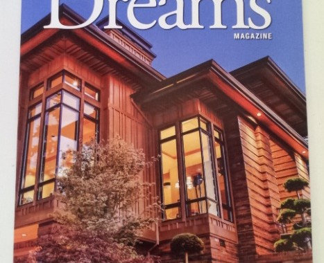 The Award-winning 20-20 Custom Home by Rick Bernard of Bernard Custom Homes featured on cover of Street of Dreams magazine 2013.